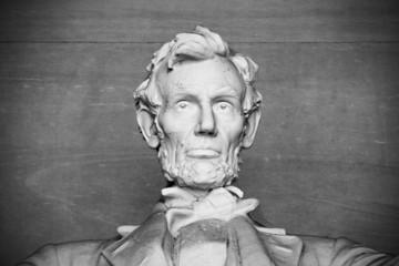 Close up of Abraham Lincoln, Lincoln memorial, Washington