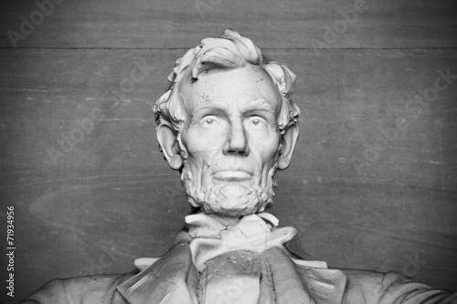 Poster Close up of Abraham Lincoln, Lincoln memorial, Washington