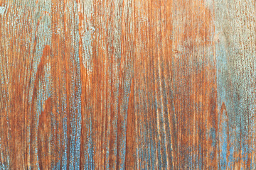 Wood background with peeled paint