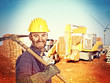 handyman at construction site