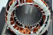 Leinwanddruck Bild - Elektromotor Herstellung