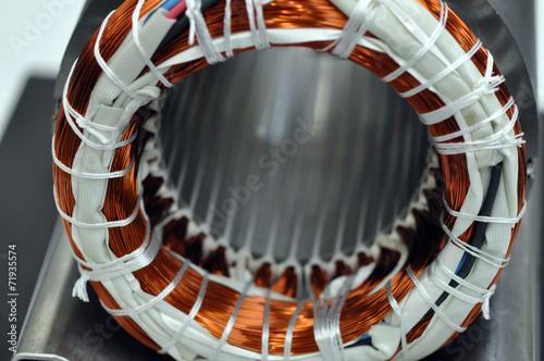 Leinwanddruck Bild Elektromotor Herstellung