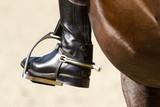 Rider's leg