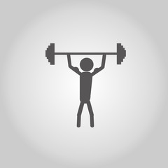 icon man lifting weights