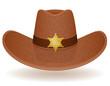 cowboy hat sheriff vector illustration - 71936510