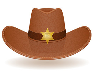 cowboy hat sheriff vector illustration