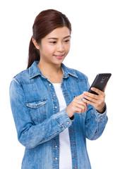 Woman use mobile phone