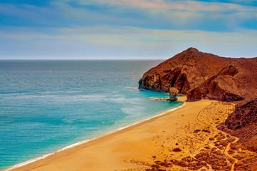 Playa de los Muertos beach in Cabo de Gata-Nijar Natural Park, S