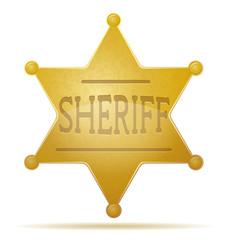 star sheriff vector illustration
