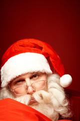 Santa in eyeglasses