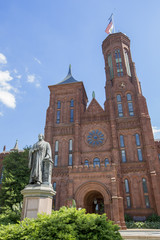 smithsonian information center (castle) in Washington