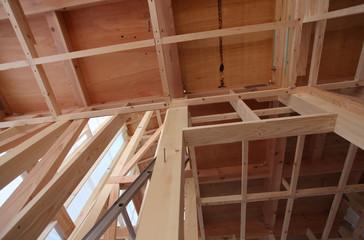 新築木造住宅 建築中の現場イメージ 026