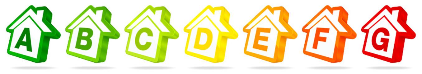 Energieeffizienz Häuser Reihe