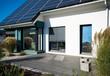 Leinwanddruck Bild - Haus mit Terrasse