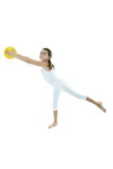 Gymnastic ball child