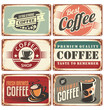 Set of vintage coffee tin signs - 71937732