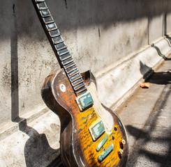 Simulated wood guitar