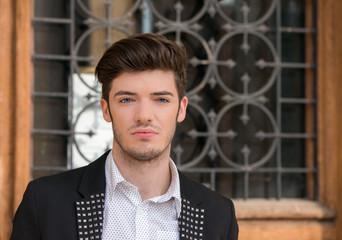 Closeup of an attractive man