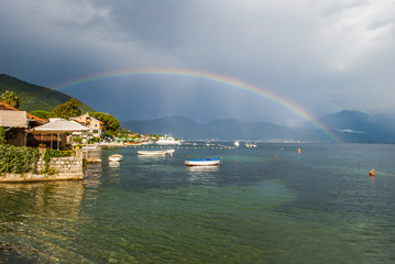 Rainbow over the Mediterranean Sea