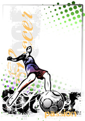 soccer vector poster background