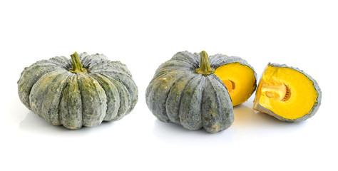 pumpkin on over white background