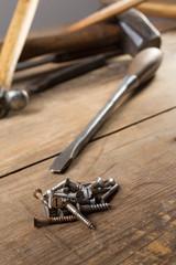 screwdriver with screws