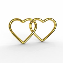 liebende Herzen gold