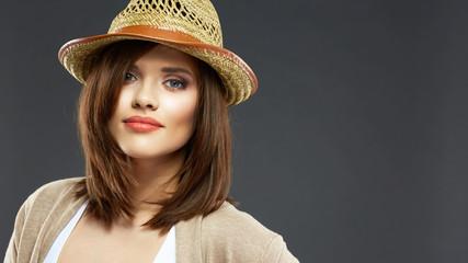 Woman face portrait .  Casual style