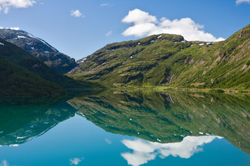 ruhiger See in Norwegen