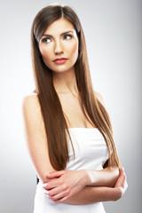 Beauty model isolated portrait.
