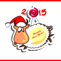 Funny goat - symbol of the New Year 2015