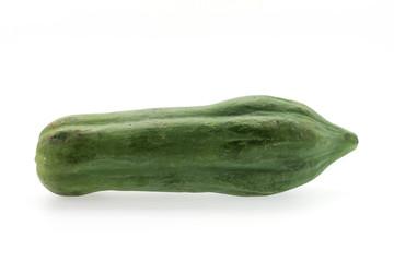 Green papaya isolated on white