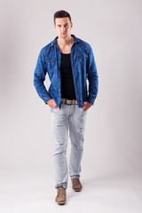 Handsome male model - autumn-winter collection