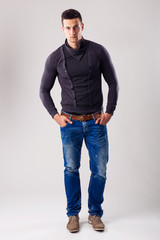 Handsome man - in the autumn-winter collection