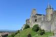Die Westseite der Festung Carcassonne