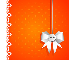 Gift bright background with white bow