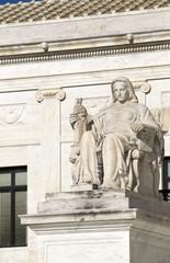 Statue outside the Supreme Court in Washington