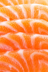 Salmon meat close up