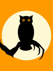 Halloween Spooky Owl