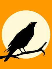 Halloween Crow silhouette