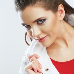 Young woman portrait. Beautiful model.