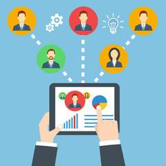 Management concept. Remote business.