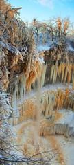 frozen winter waterfall