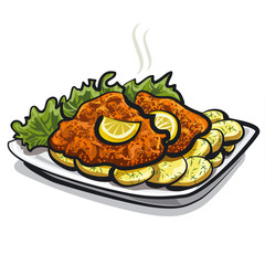 roasted schnitzel