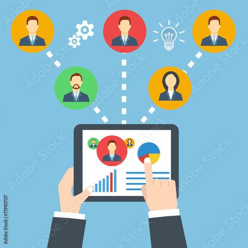 Management concept. Remote business. - 71940707