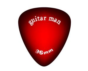 red sunburst guitar pick