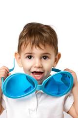 kid and sunglasses