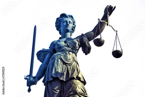 Poster Standbeeld Gerechtigkeitsgöttin