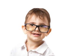 little  boy in big glasses