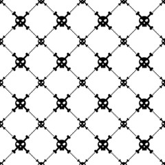 Black skull and bones pattern